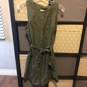 A New Day Button Down Army Green Dress